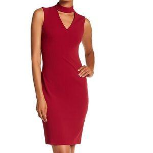 NWT Calvin Klein Scuba Crepe Choker Sheath Dress